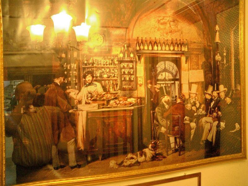 Gemälde im Caffè Greco