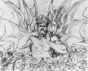 Lucifero - Divina Commedia - Illustrazione di J. A. Koch