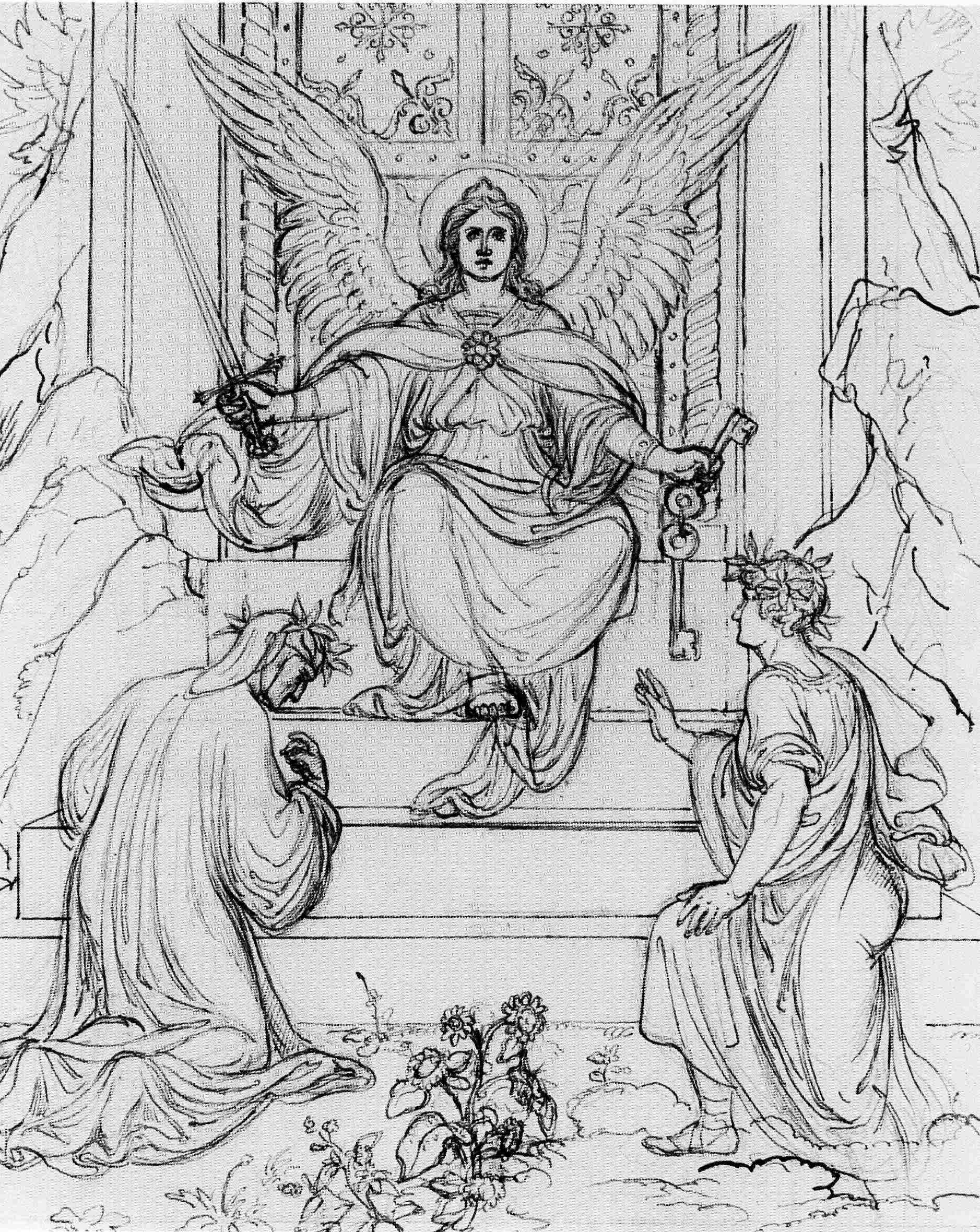 Dante, Virgilio e Angelo