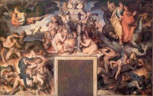 Affreschi di Koch nel Casino Massimo - Dante - L'inferno