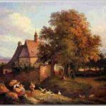 Ludwig Richter - Die Kirche zu Graupen in Boehmen