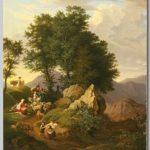 Ludwig Richter -  Hirten vor einem Andachtsbild