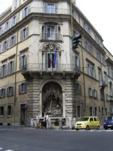 Piazza Quattro Fontane - hier wohnte J. A. Koch