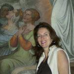 Barbara Koch davanti agli affreschi del Casino Massimo