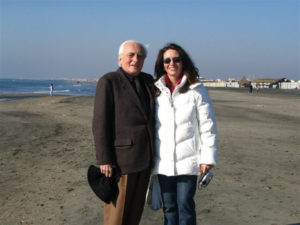 Con papà sulla spiaggia di Ostia
