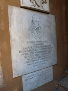Lapide di Joseph Anton Koch al cimtero teutonico di Roma -