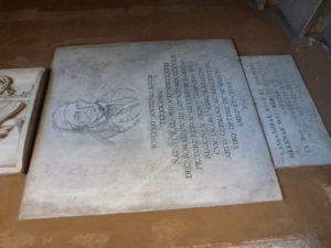 Inschrift am teutonischen Friedhof des Vatikans