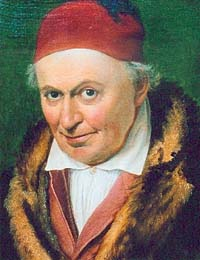 Joseph Anton Koch portraitiert von Wittmer