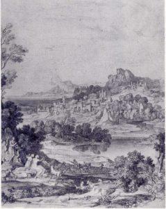 Heroische Landschaft mit Regenbogen, 1806, Bleistift, Nürnberg, Germanisches Nationalmuseum, Graphische Sammlung