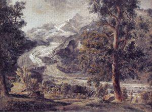 Der untere Grindelwaldgletscher, 1792/94, Aquarell und Deckfarben, Winterthur, Stiftung Oskar Reinhart