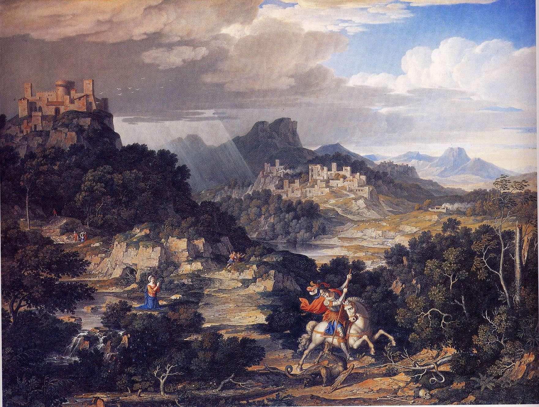 Landschaft mit heilgem Georg